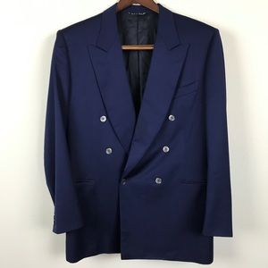 Canali Milano Blue Double Breasted Blazer